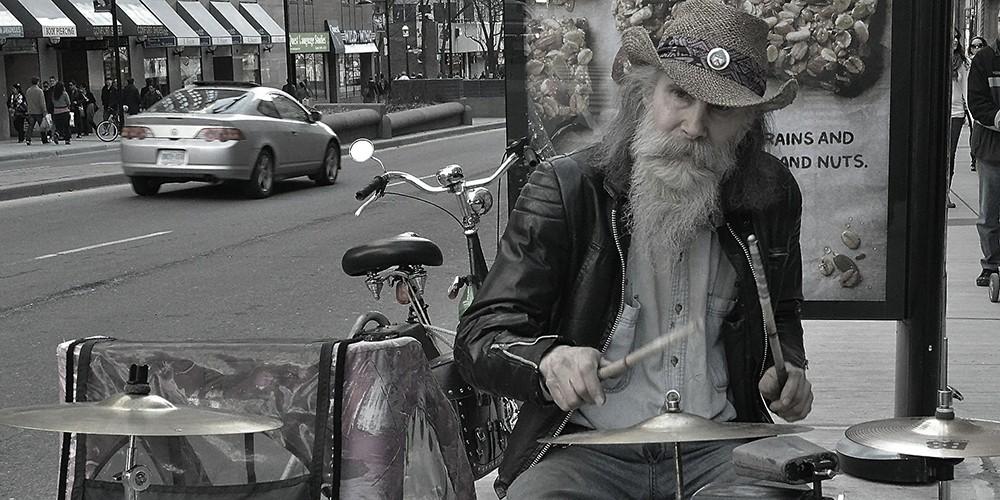 Strassenmusiker - Drummer